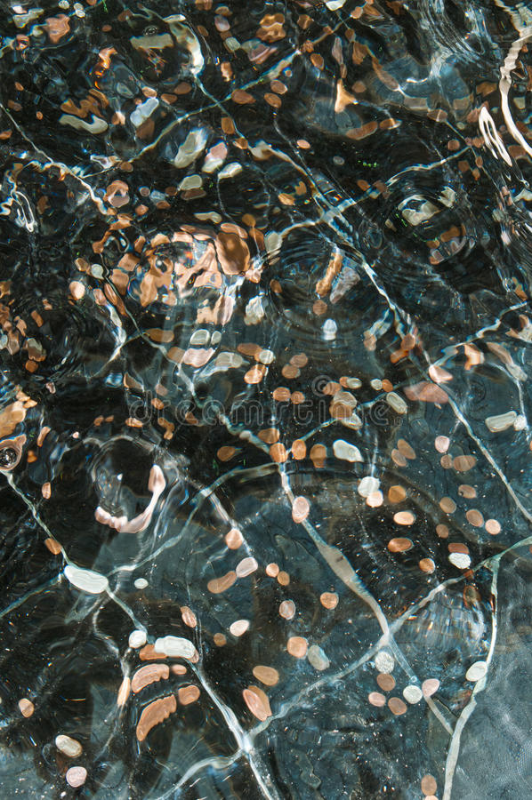 Монетки в воде стоковые изображения