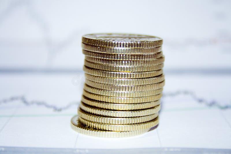 монетки диаграммы стоковые изображения