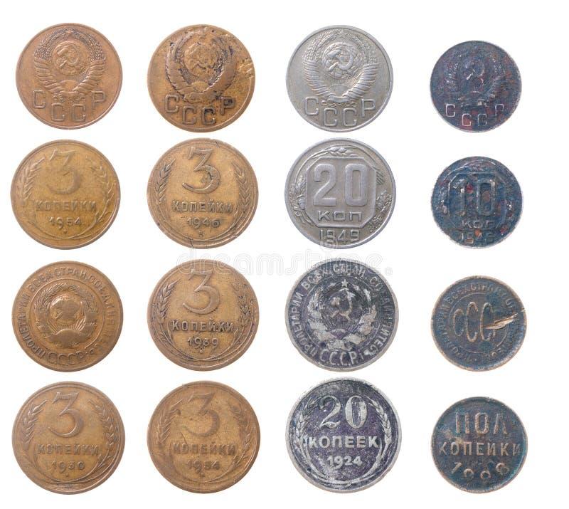монетки изолировали русского стоковые фотографии rf