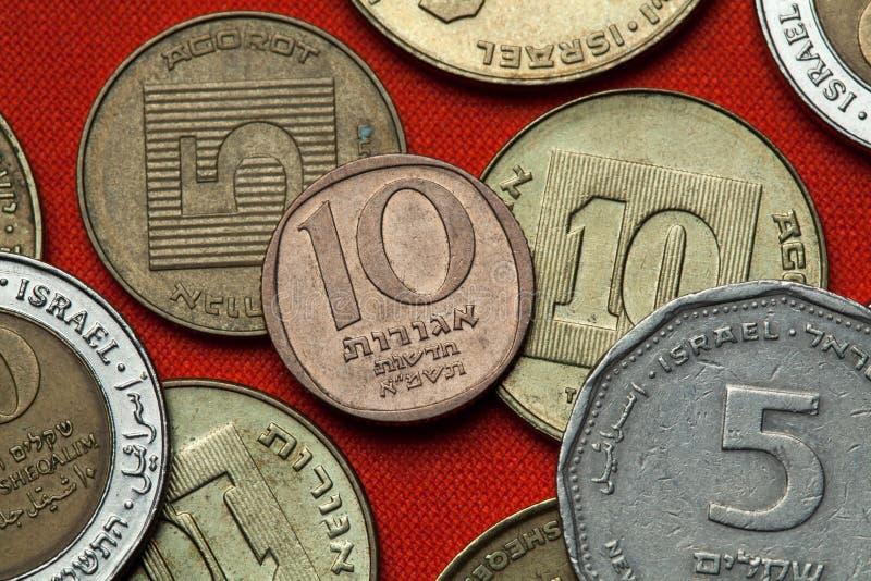 Монетки Израиля стоковое изображение
