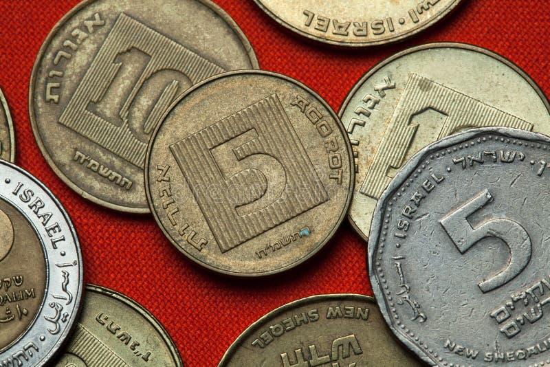 Монетки Израиля стоковое фото