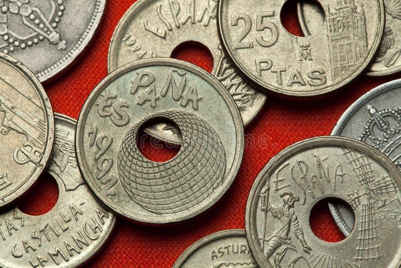 Монетки Испании Экспо 92 Севильи стоковое изображение rf