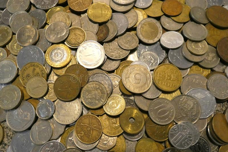 Монетки мира стоковое фото rf