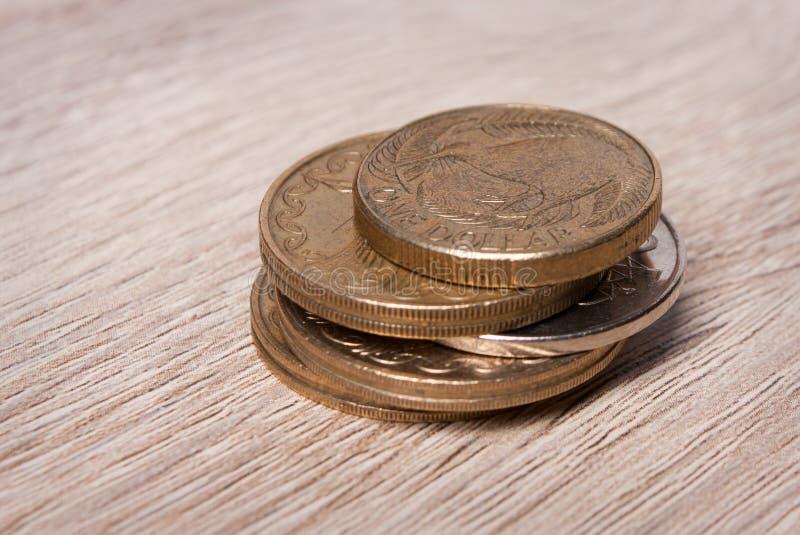 Монетки Новой Зеландии стоковая фотография