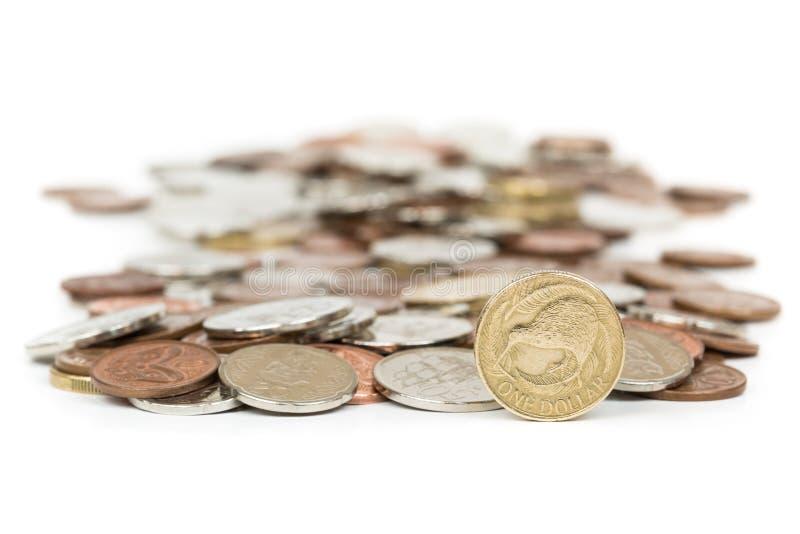 Монетки Новой Зеландии стоковая фотография rf