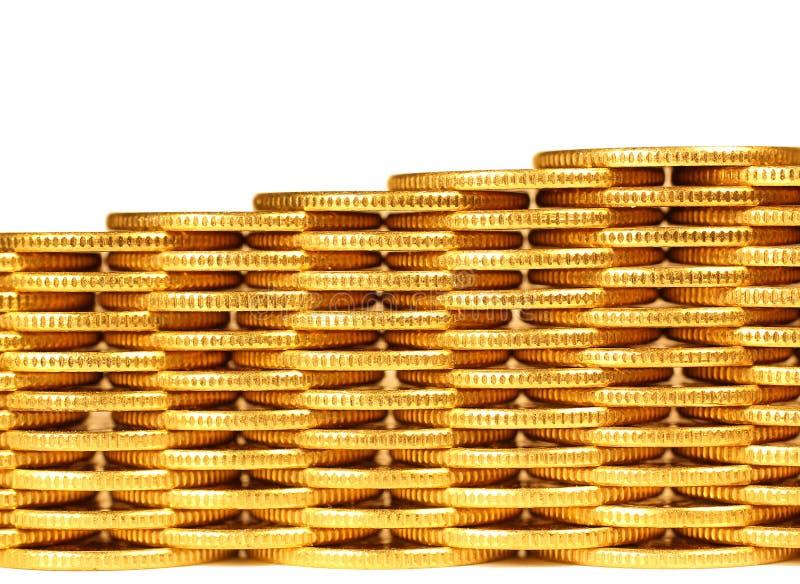 Монетки от желтого metal3 стоковое фото rf