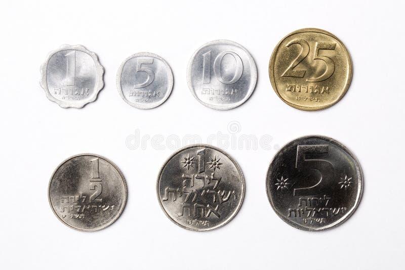 Монетки от Израиля стоковые изображения rf