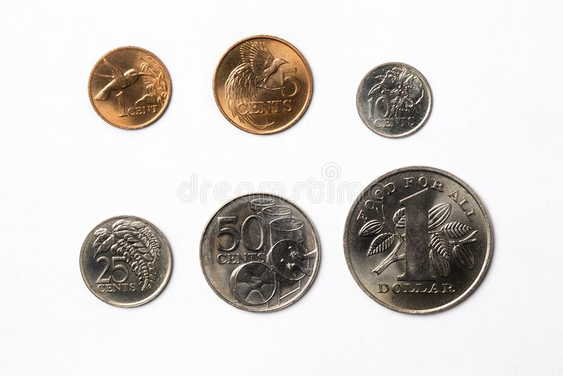 Монетки от Тринидад и Тобаго стоковые изображения rf