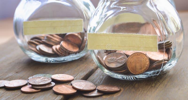 Монетки одного цента стоковое изображение rf