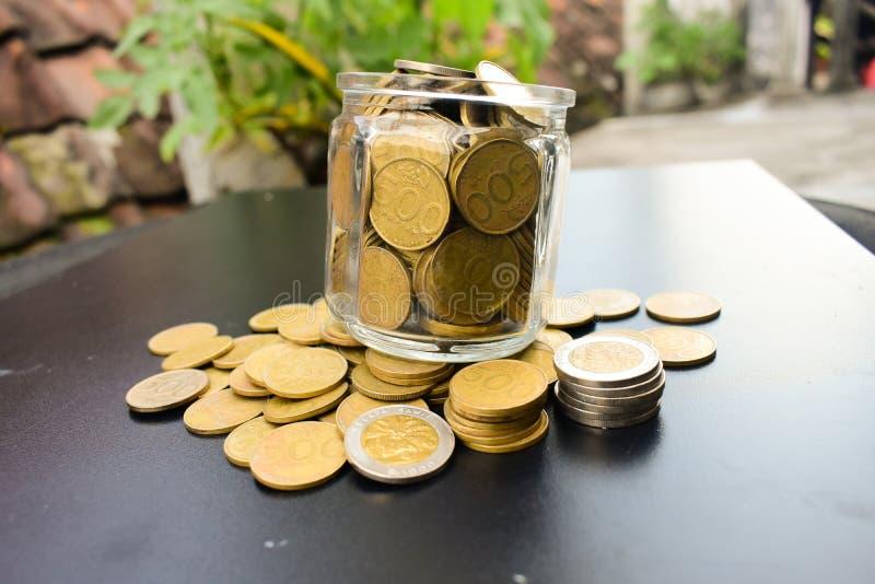 Монетки рупии стоковая фотография rf