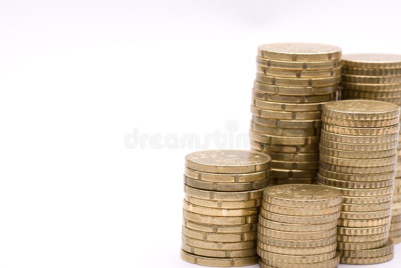 монетки собирают стоковая фотография