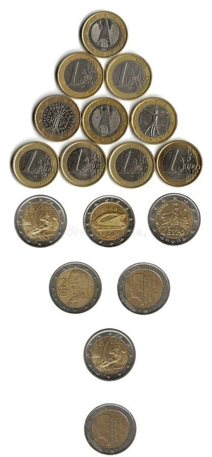 монетки стрелки стоковая фотография rf