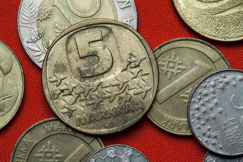 Монетки Финляндии стоковая фотография rf