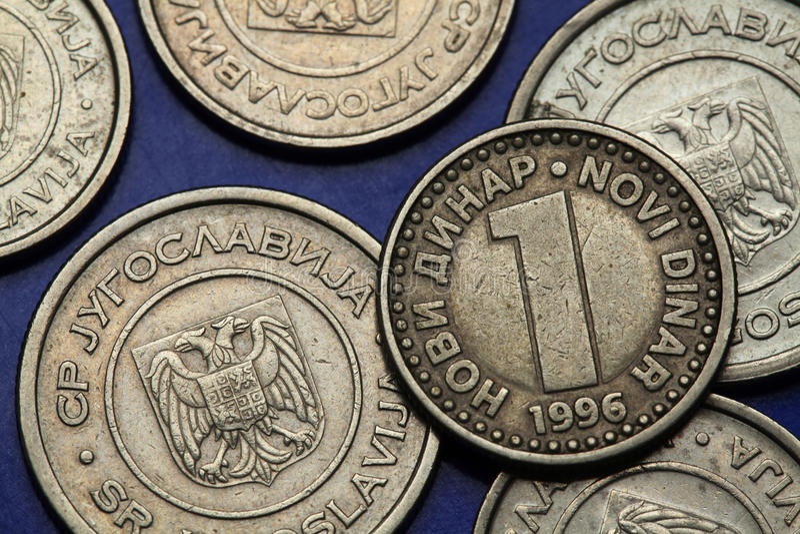 Монетки Югославии стоковые фото