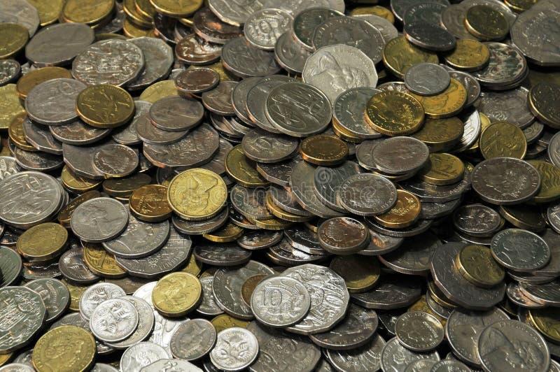 монетки 1 стоковая фотография