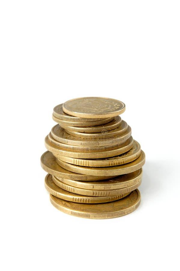 монетки 1 стоковые изображения rf