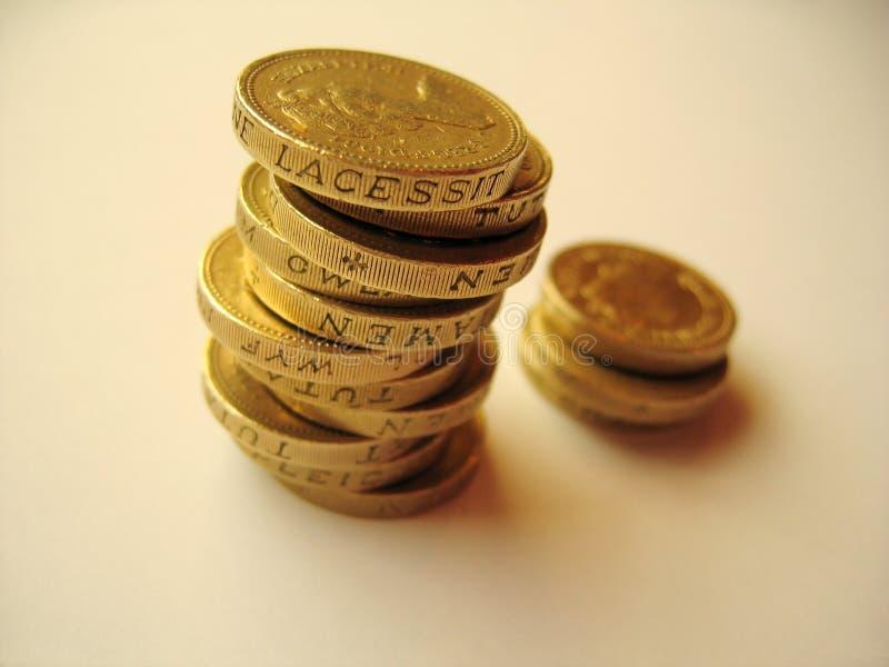 монетки 1 стоковые фото