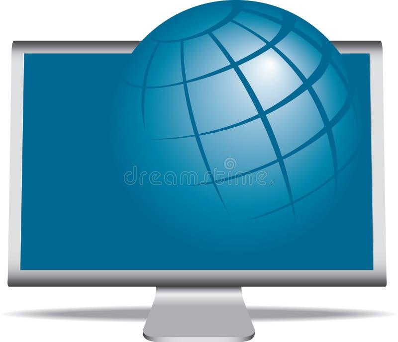 монитор глобуса иллюстрация штока