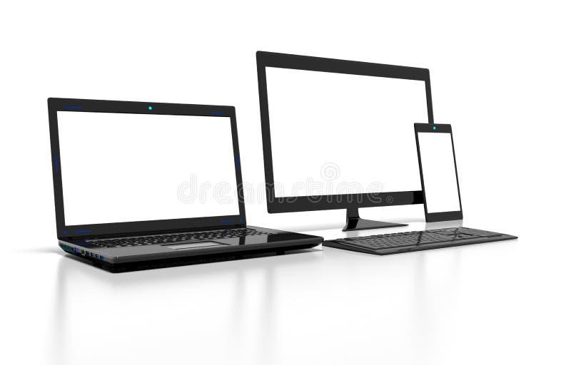 Монитор, компьютер, компьтер-книжка, таблетка стоковые изображения