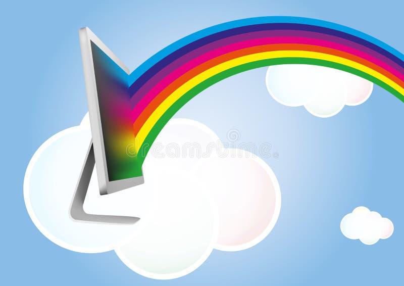 Монитор облака бесплатная иллюстрация