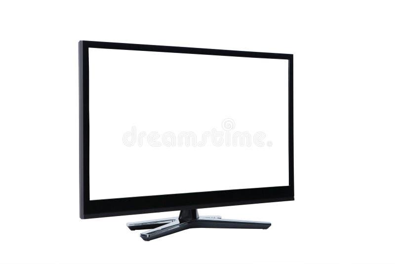 Монитор приведенный ЖК-телевизора на белизне стоковое фото rf