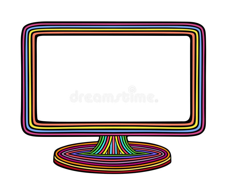 Монитор радуги иллюстрация штока