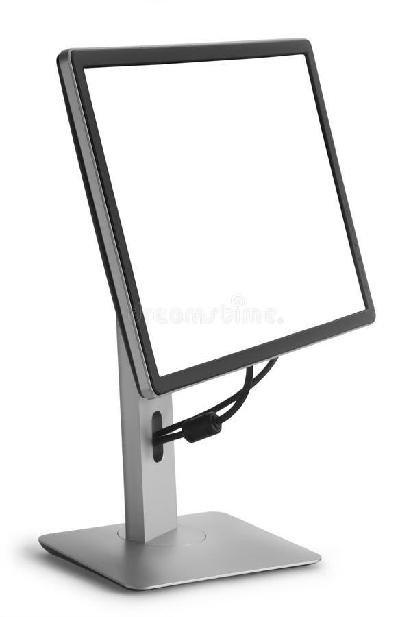 Монитор с белым экраном стоковое изображение