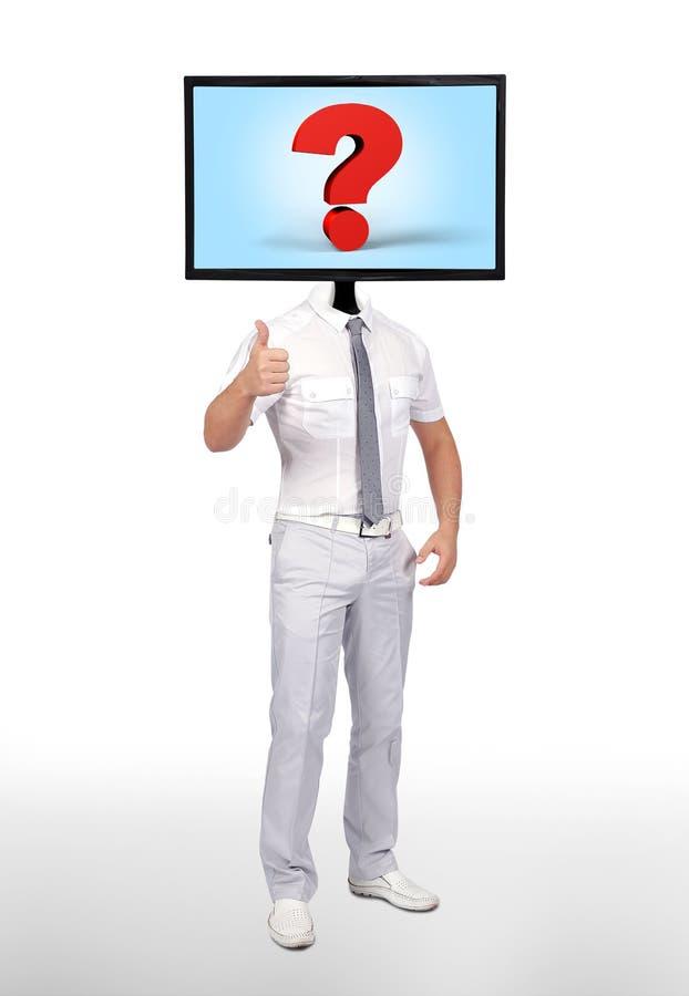Монитор с вопросительным знаком бесплатная иллюстрация