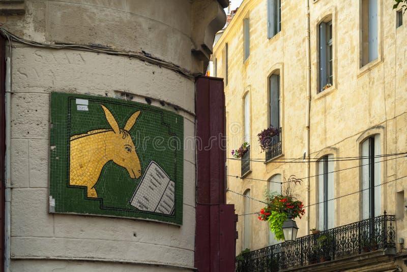 Монпелье (Франция): старые здания стоковое фото rf