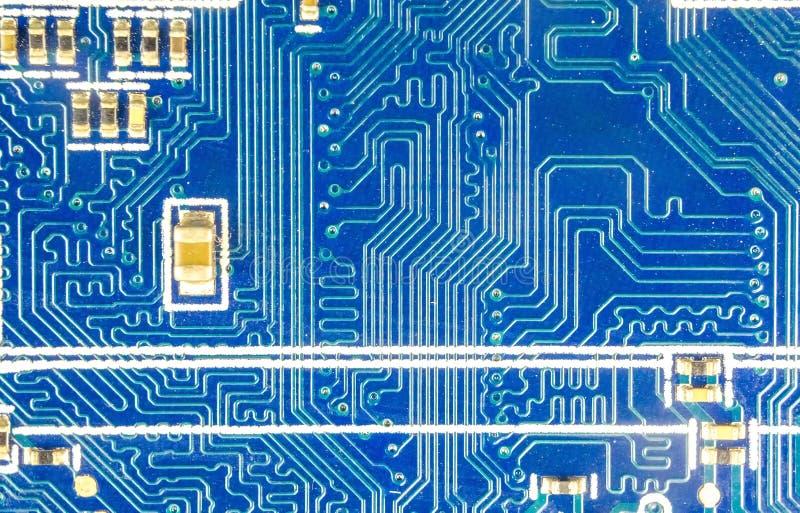 Монтажная плата Аппаратные технологии электрического счетнорешающего устройства, плата с печатным монтажом макроса стоковая фотография rf