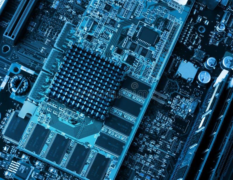 Монтажная плата и обработчики компьютера стоковое изображение rf
