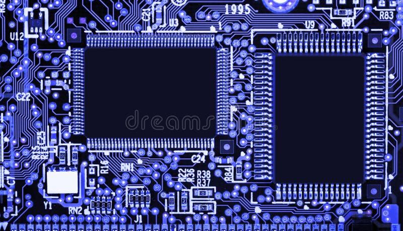 Монтажная плата с компонентами SMD стоковые изображения