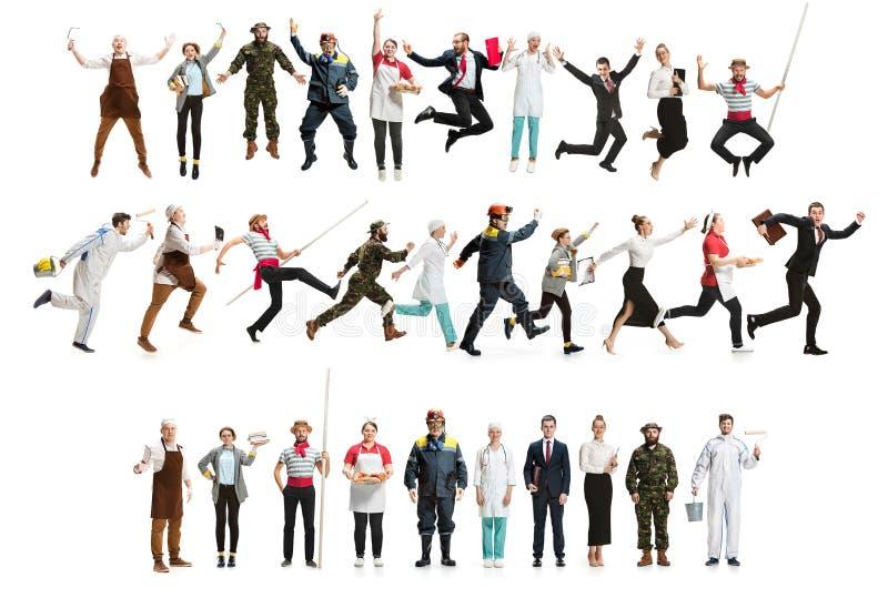 Монтаж о различных профессиях стоковая фотография rf