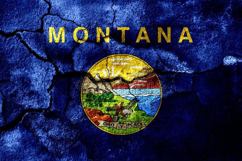 Монтана заржавела треснутый флаг, ржавая предпосылка положения америки соединили иллюстрация вектора