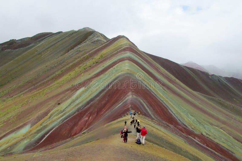 Монтана De Siete Colores около Cuzco стоковая фотография rf