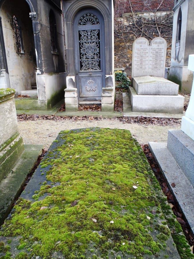 Монументальное кладбище Mont Martre, Париж стоковые изображения rf