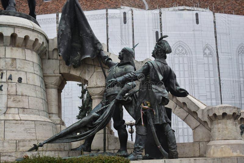 Монумент Маттиаса Корвина в Клуе Напока стоковые изображения rf