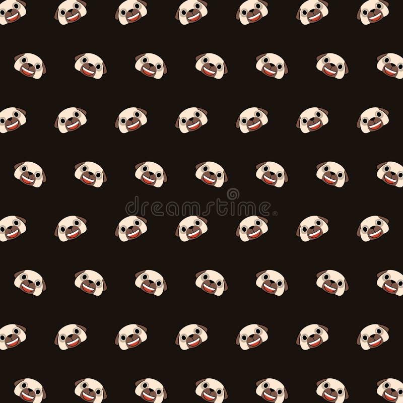 Мопс - картина 01 emoji иллюстрация штока