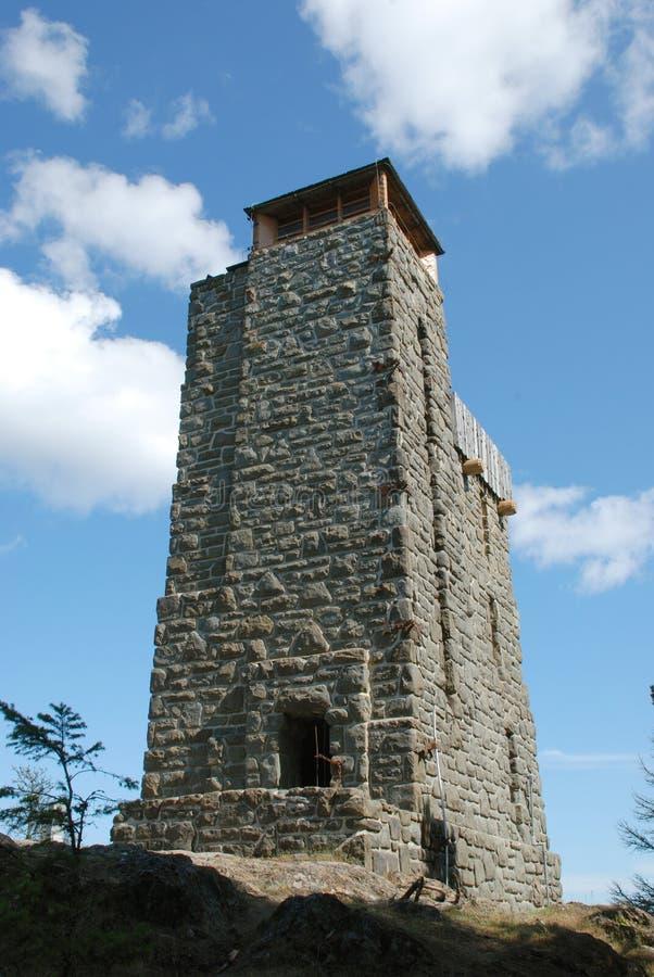 Моранская наблюдательная башня на горе стоковая фотография rf