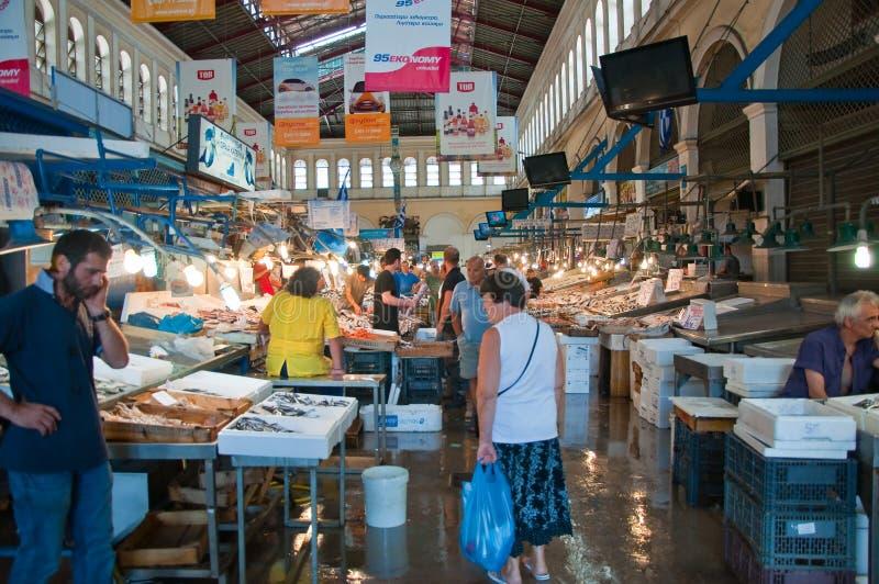 Download Морепродукты на рынке Афин 1-ого августа, Греция. Редакционное Фото - изображение насчитывающей рыболовство, кухня: 37925966