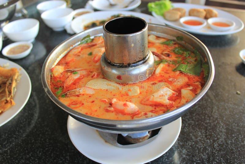 Морепродукты супа Тома Yum стоковое изображение