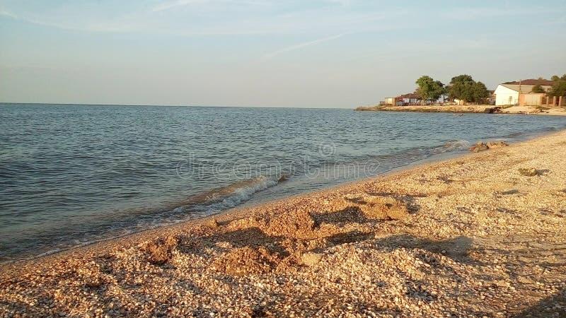 Море Азова, пляж стоковая фотография rf