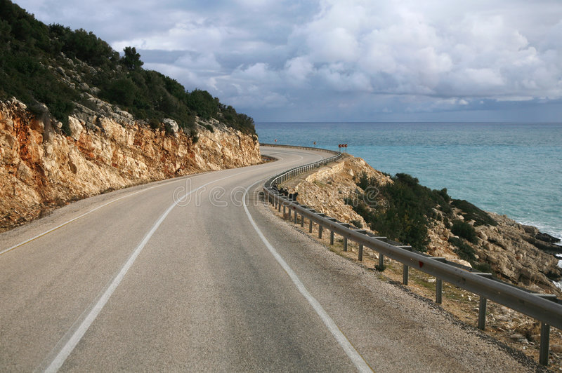 море дороги стоковая фотография