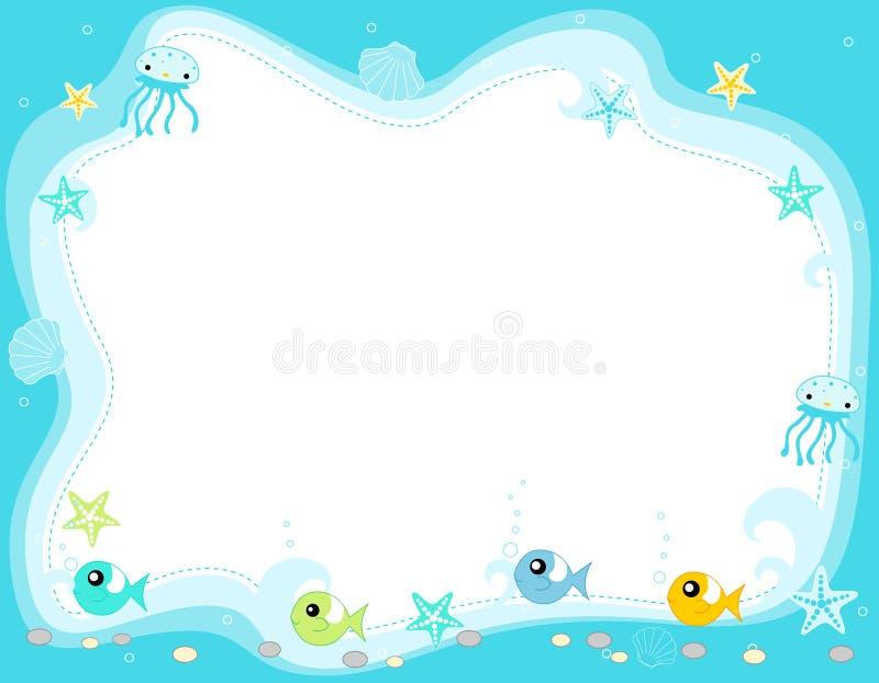 море жизни рамки граници иллюстрация вектора