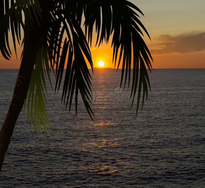 Море захода солнца иллюстрация вектора