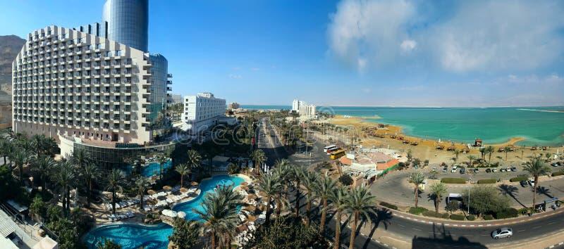 море Израиля гостиниц свободного полета мертвое стоковое изображение rf