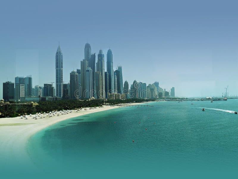Море и места пляжа Дубай стоковая фотография rf