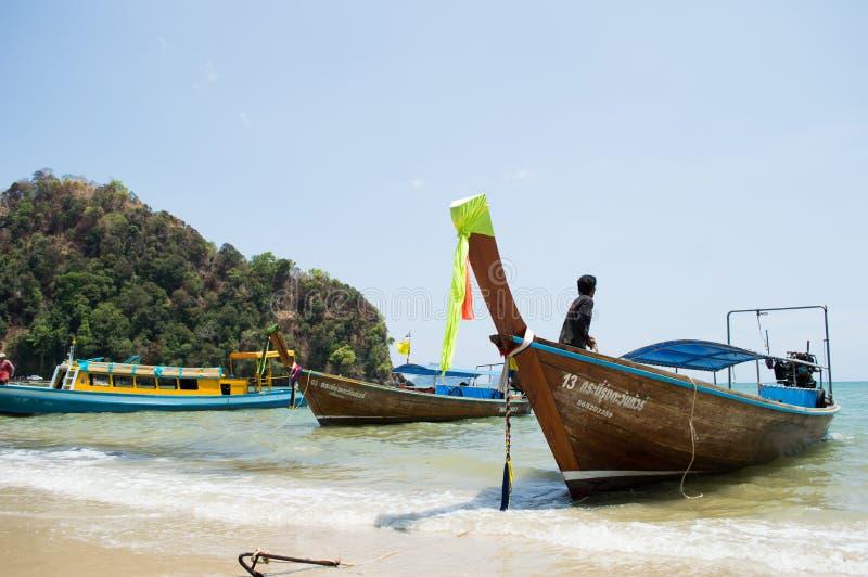 Море и океан на ao-nang стоковое фото