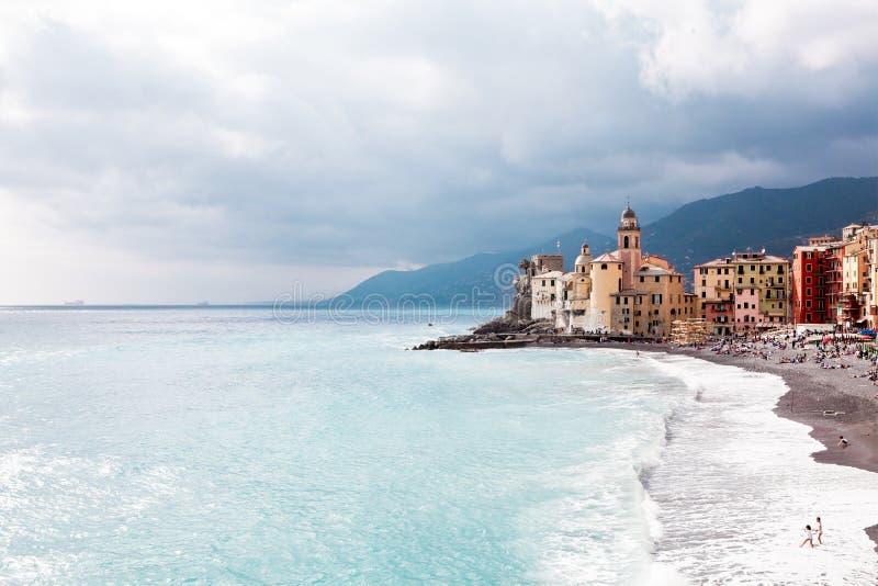Море и пляж Сан Rocco стоковая фотография rf