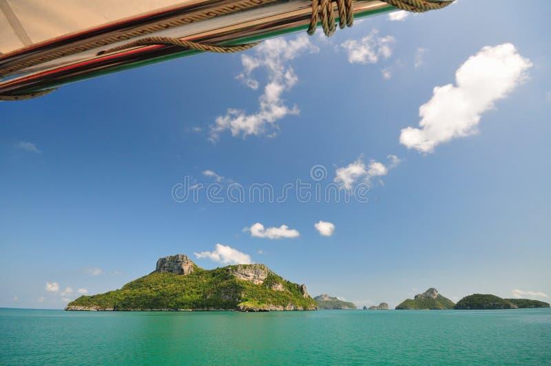 море ландшафта острова стоковые фотографии rf